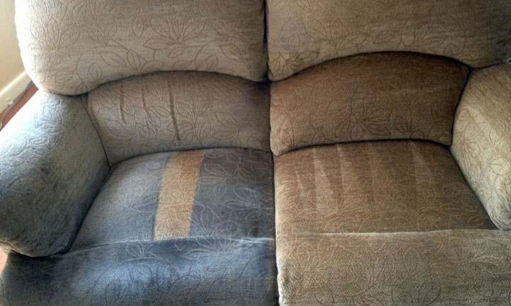 couch cleaning before after