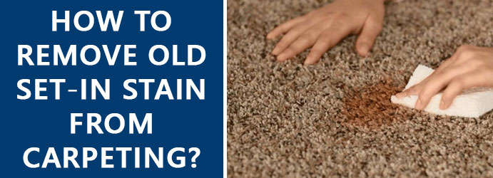 Remove Old Stain From Carpet