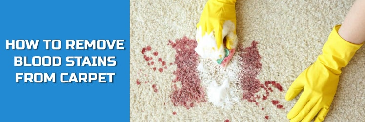 HOW TO REMOVE BLOOD STAINS FROM CARPET?